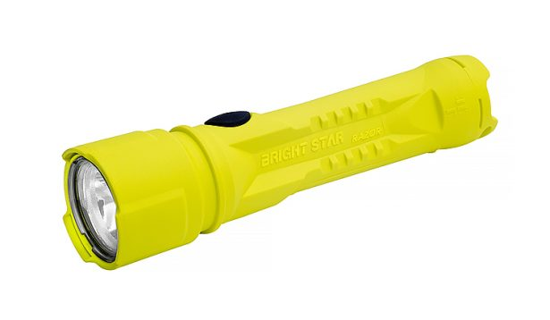 Side yellow intrinsically safe flashlight